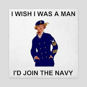 Navy-Humor-I-Wish-MCPO Queen Duvet