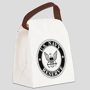 USNR-Logo-Black Canvas Lunch Bag