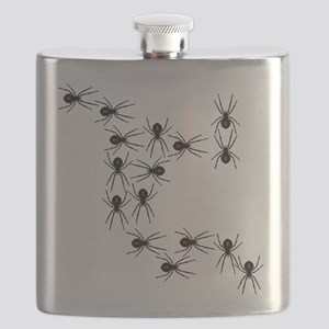 Creepy Crawly Spiders Flask