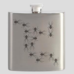 Creepy Crawly Spiders Flask