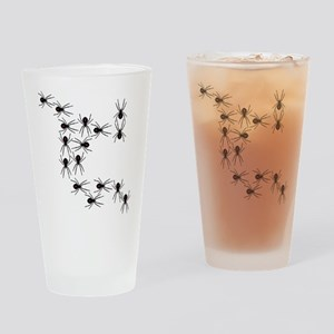 Creepy Crawly Spiders Drinking Glass