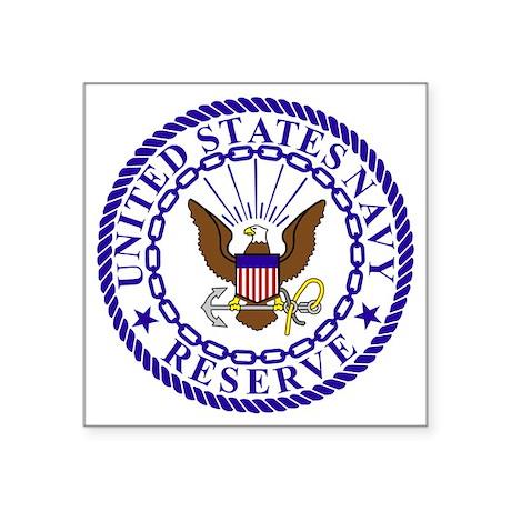 "USNR-Logo-Bonnie-4-Blue Square Sticker 3"" x 3"""