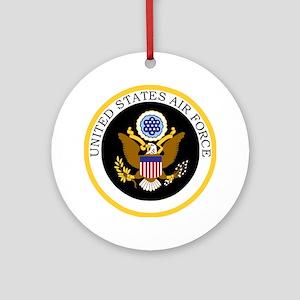 USAF-Patch-11-For-Blacks Round Ornament