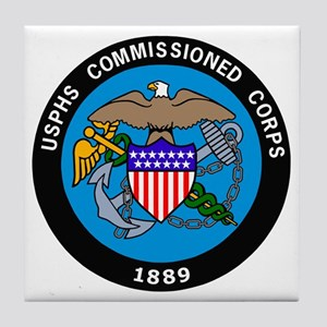 USPHS-Commissioned-Corps-Logo-Bonnie. Tile Coaster