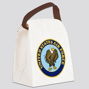 USAF-Patch-14-For-Whites Canvas Lunch Bag