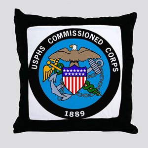 USPHS-Commissioned-Corps-Logo-Bonnie. Throw Pillow
