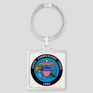 USPHS-Commissioned-Corps-Logo-Bonn Square Keychain