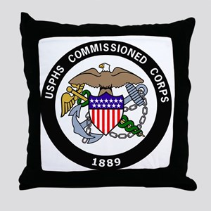 USPHS-Commissioned-Corps-White Throw Pillow