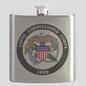 USPHS-Commissioned-Corps-White Flask