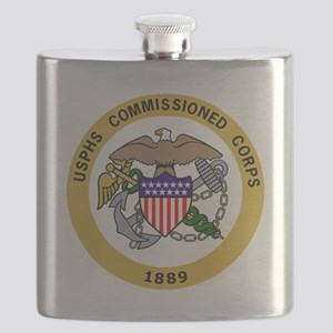 USPHS-Commissioned-Corps-Gold-2 Flask