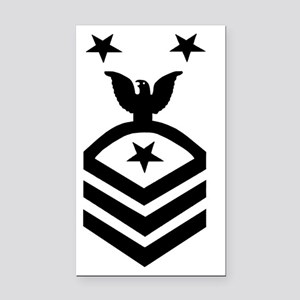 Navy-CMC-Whites Rectangle Car Magnet