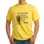 Sitting Bull Yellow T-Shirt
