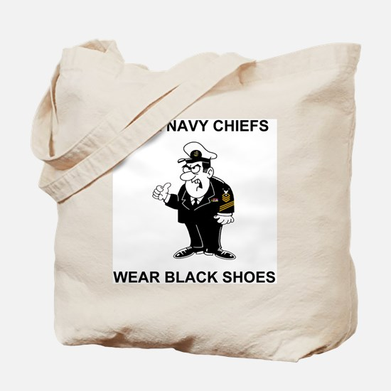 Navy-Humor-Black-Shoes-CMC.gif Tote Bag