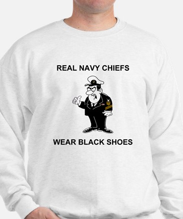 Navy-Humor-Black-Shoes-CMC.gif Sweatshirt