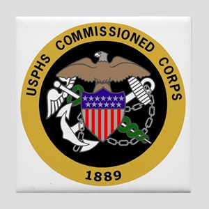 USPHS-Commissioned-Corps-Yellow Tile Coaster