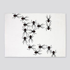 Creepy Crawly Spiders 5'x7'Area Rug
