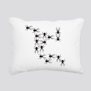 Creepy Crawly Spiders Rectangular Canvas Pillow