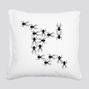 Creepy Crawly Spiders Square Canvas Pillow