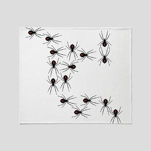 Creepy Crawly Spiders Throw Blanket