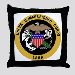 USPHS-Commissioned-Corps-Yellow Throw Pillow