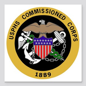 "USPHS-Commissioned-Corps Square Car Magnet 3"" x 3"""