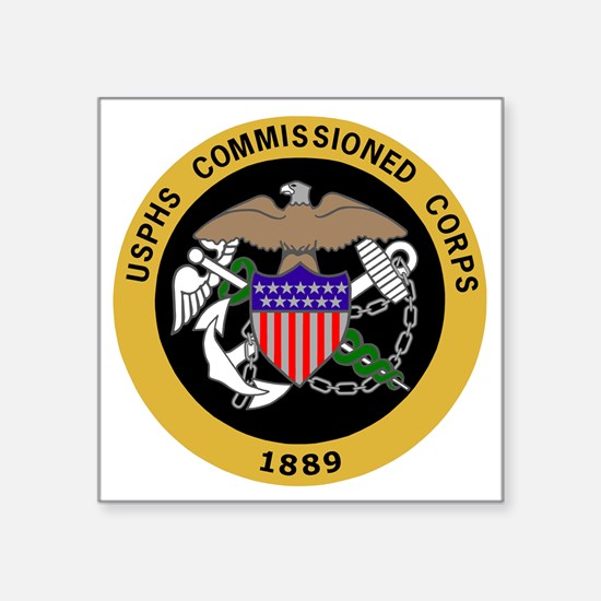 """USPHS-Commissioned-Corps-Ye Square Sticker 3"""" x 3"""""""