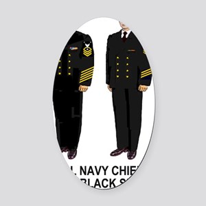 Navy-Humor-Black-Shoes-CMC-Poster. Oval Car Magnet