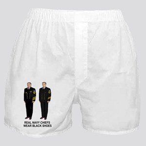 Navy-Humor-Black-Shoes-CMC-Poster Boxer Shorts