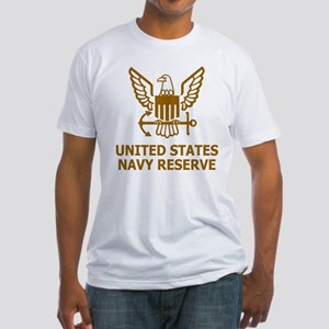 USNR-Shirt-Brown Fitted T-Shirt