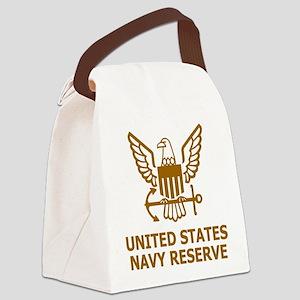 USNR-Shirt-Brown Canvas Lunch Bag