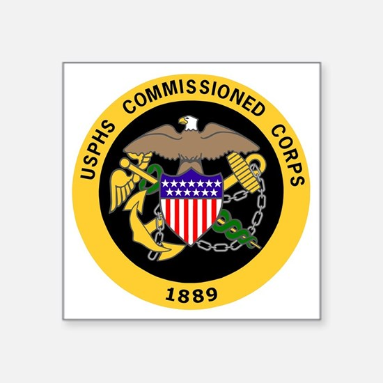 """USPHS-Commissioned-Corps-Go Square Sticker 3"""" x 3"""""""