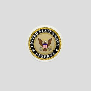 USNR-Logo-Khaki Mini Button