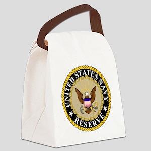 USNR-Logo-Khaki Canvas Lunch Bag
