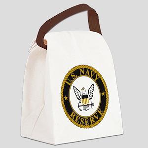 USNR-Logo-Gold Canvas Lunch Bag