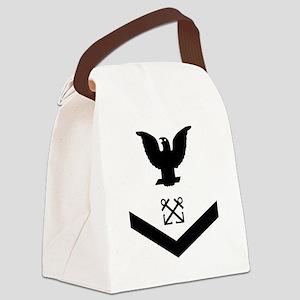 Navy-BM3-Whites Canvas Lunch Bag