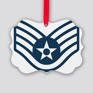 USAF-SSgt-Black-Shirt-1X Picture Ornament