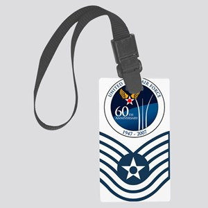 USAF-TSgt-Value-Shirt Large Luggage Tag