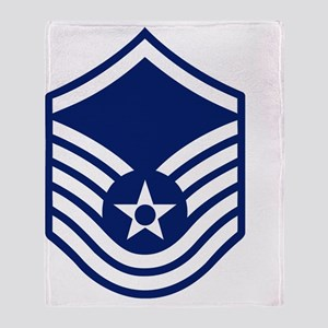 USAF-MSgt-Squared Throw Blanket
