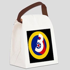 USAF-3rd-AF-Black-Cap Canvas Lunch Bag
