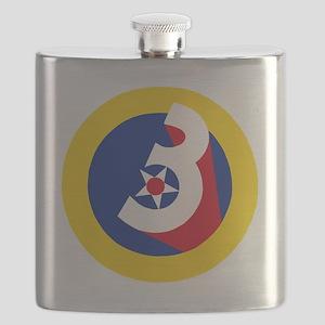 USAF-3rd-AF-Patch Flask