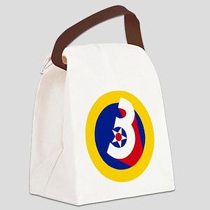 USAF-3rd-AF-Patch Canvas Lunch Bag
