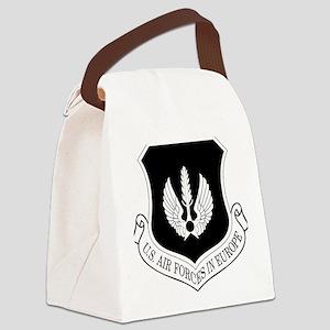 USAF-USAFE-Shield-BW-Bonnie Canvas Lunch Bag