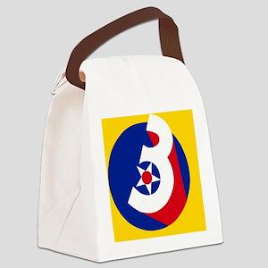 USAF-3rd-AF-Button Canvas Lunch Bag