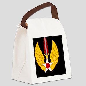 USAF-USAFE-Black-Cap Canvas Lunch Bag