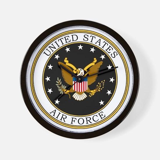 USAF-Logo-7-Black.gif Wall Clock