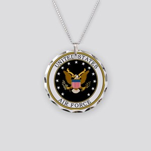 USAF-Logo-7-Black.gif Necklace Circle Charm