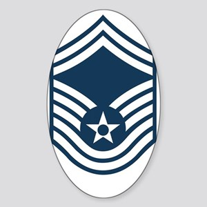USAF-SMSgt-X Sticker (Oval)