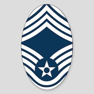 USAF-CMSgt-X Sticker (Oval)