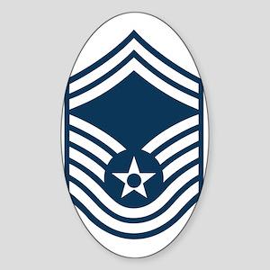 USAF-SMSgt-Black-Shirt Sticker (Oval)