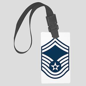 USAF-SMSgt-Black-Shirt Large Luggage Tag